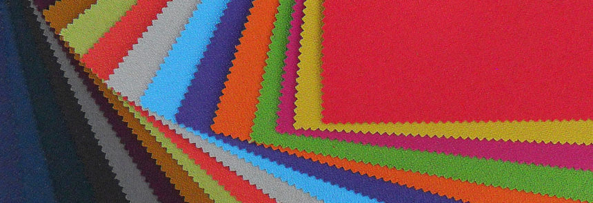 various fabric patches in different colours